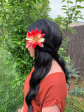Red & Yellow Flower Clip #F1023
