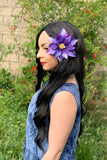Blue & Purple Flower Clip #F1024