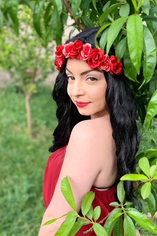 Red Rose Headband #C1118
