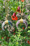 Abalone Shell Moon Necklace #I1205