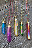 Yellow Aura Crystal Necklace #I1064