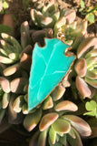 Green Arrowhead Necklace #I1074