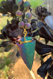 Rainbow Titanium Arrowhead Necklace #I1186