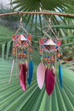 Colorful Feather Earrings #H1050