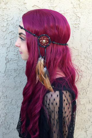 Black Gold Dreamcatcher Headband #A1036