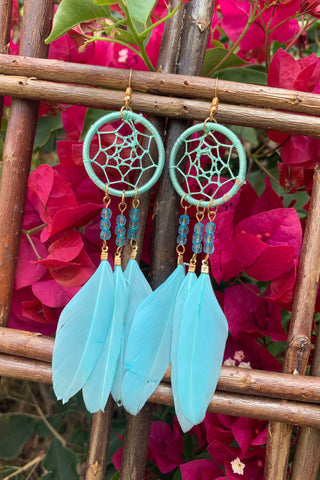 Blue Dreamcatcher Earrings #H1045
