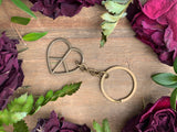 Peace Heart Key Chain #J1019