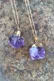 Purple Crystal Necklace #I1071