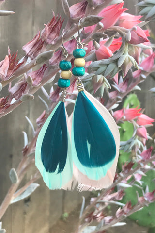 Feather Earrings #H1040