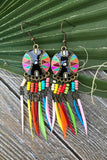 Rainbow Feather Earrings #H1031