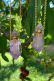 Amethyst Perfume Bottle Necklace #I1247