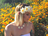 Yellow Plumeria Headband #C1079