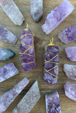 Amethyst Druzy Necklace #I1202