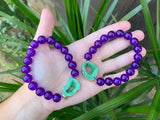 Purple Jade & Green Agate Bracelet #K1012
