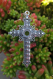 Silver Cross Necklace #I1116