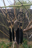 Black Dreamcatcher Earrings #H1037