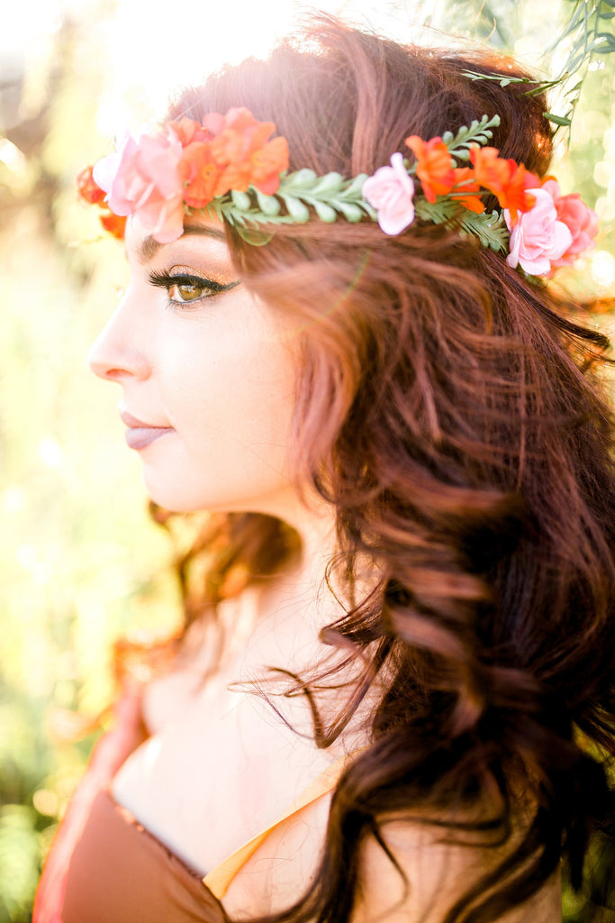 Goddess Flower Crown #D1024