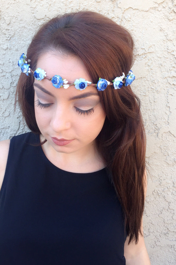 Blue Rose Crown #D1036