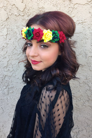 Rasta Flower Headband