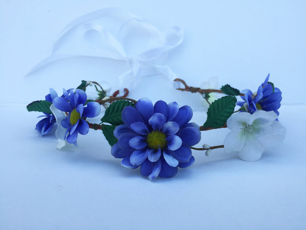Blue flower crown d1038 vividbloom blue flower crown d1038 izmirmasajfo