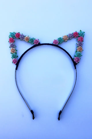 Rainbow Cat Ears #E1016