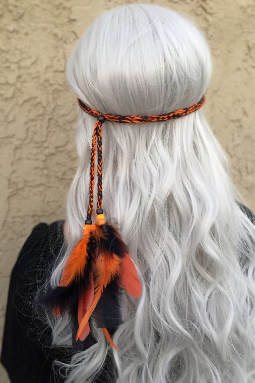 Halloween Feather Headband #B1034