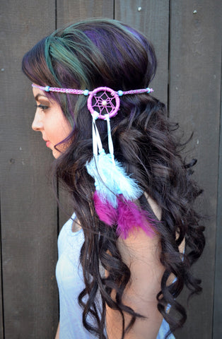 Blue & Purple Dreamcatcher Headband #A1003