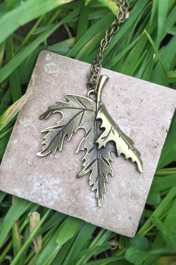 Maple Leaf Necklace #I1002