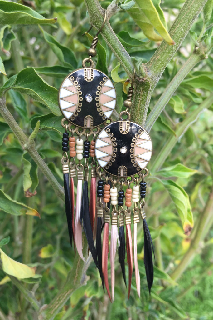 Trendy Feather Earrings #H1003