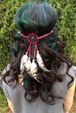 Ruby Red Dreamcatcher Headband #A1018