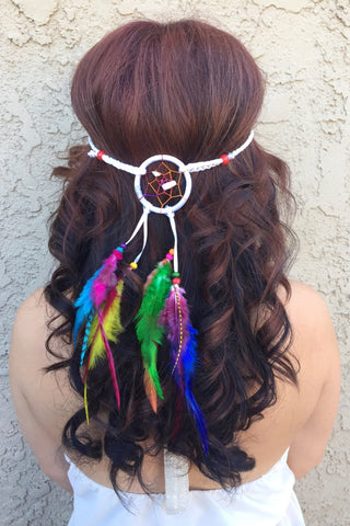 Rainbow Dreamcatcher Headband #A1028