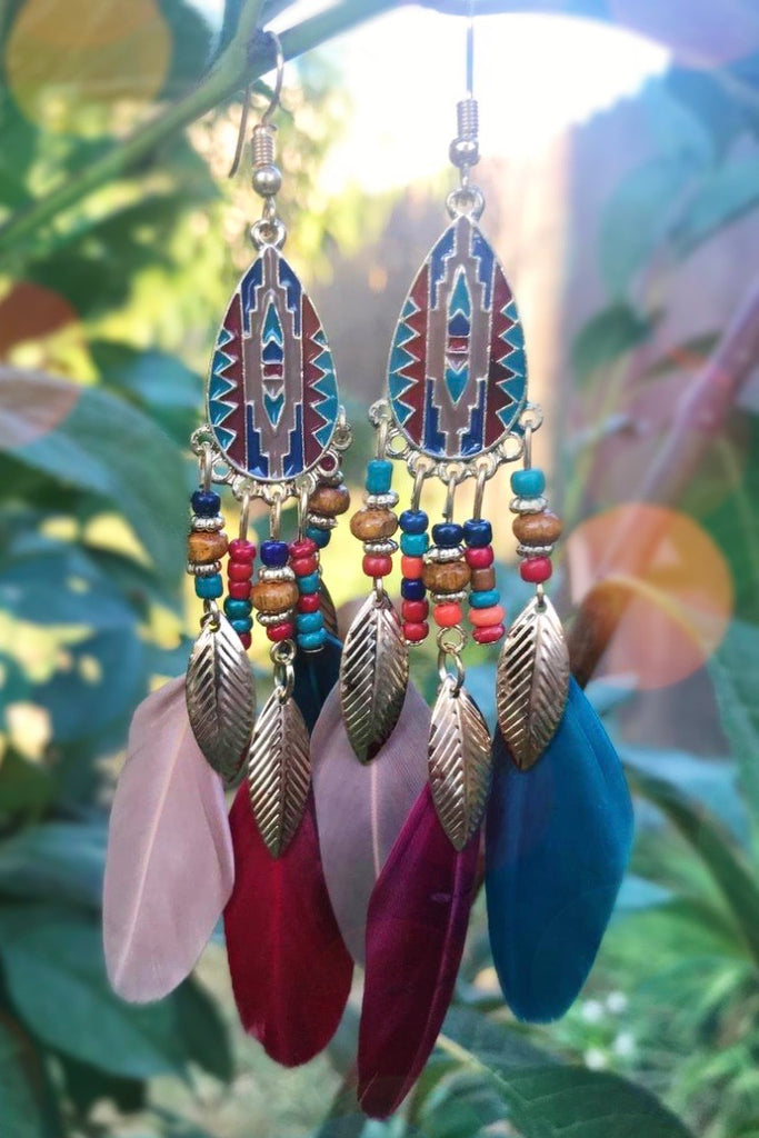 Colorful Feather Earrings #H1041