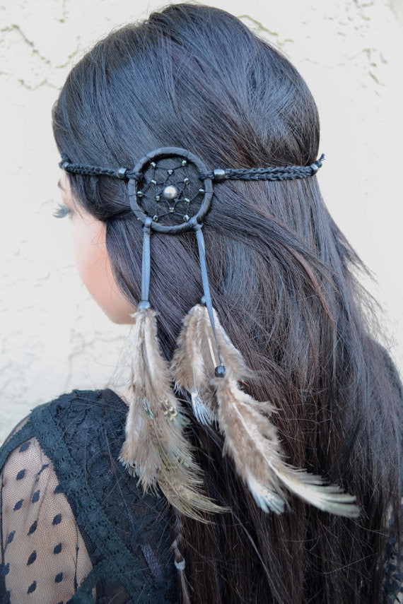 Black Dreamcatcher Headband #A1015