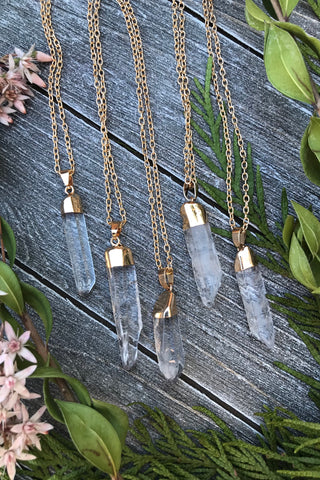 Quartz Crystal Necklace #I1012