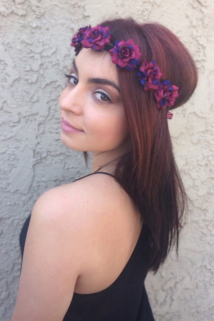 Wine Rose Headband #C1072