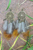 Bohemian Feather Earrings #H1010