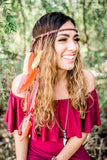 Fall Feather Headband #B1040