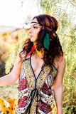 Rasta Feather Headband #B1065