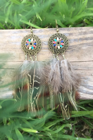 Dangle Feather Earrings #H1008
