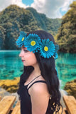 Teal Daisy Crown #D1031