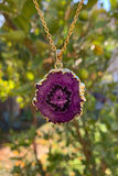 Purple Stalactite Agate Necklace #I1088