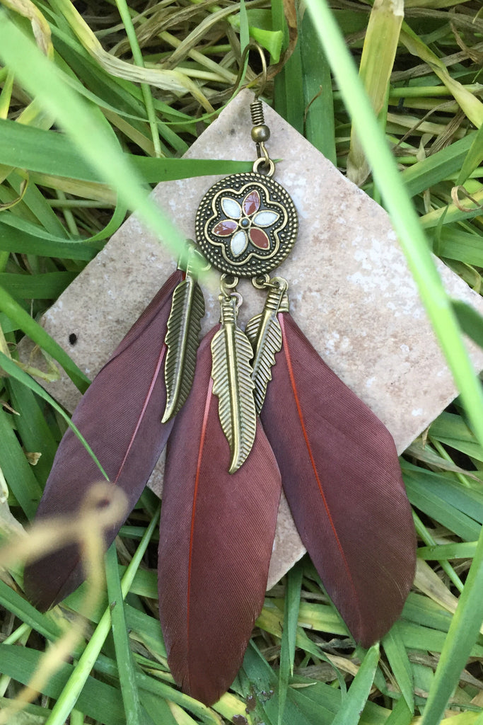Feather Earrings #H1004