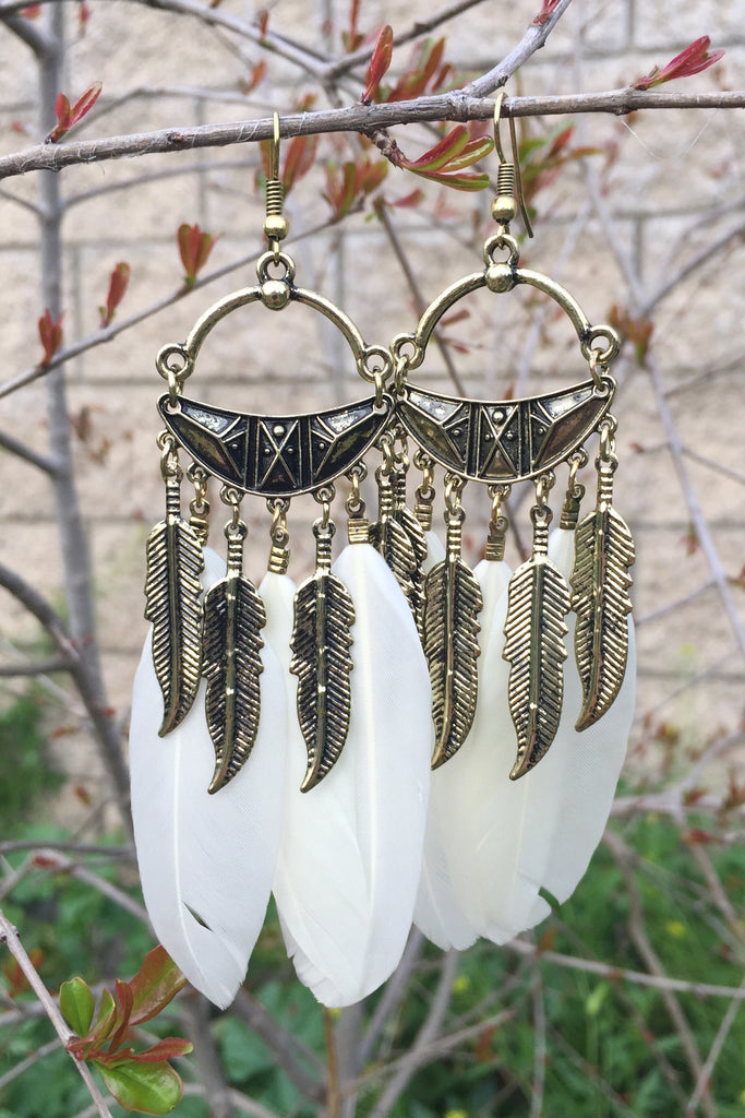 Classy Feather Earrings #H1009