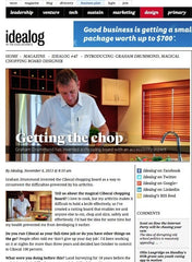 Idealog magazine feature on Cibocal Cutting Board