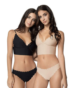 Herbert Twins x PQ Midnight Seamless Scalloped Bralette