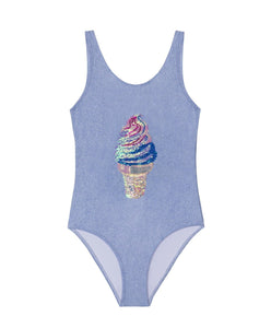 Light Sparkle Ice Cream One Piece - PilyQ
