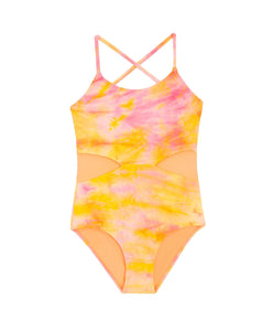 Del Mar Tie Dye Cutout One Piece