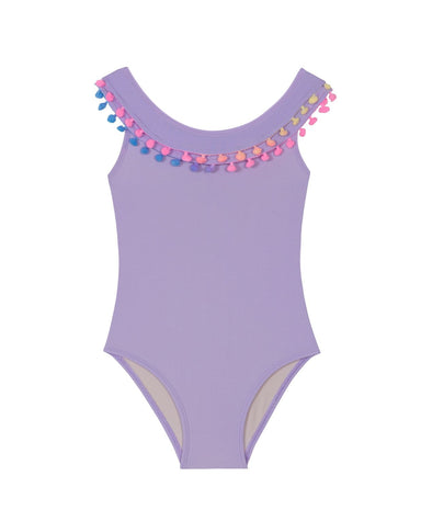 Lavender Pom Pom Baby One Piece (FINAL SALE)