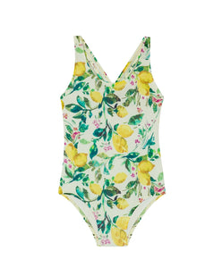 Lemons Bow Baby One Piece