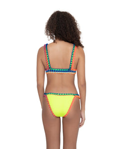 Ferrarini by PQ Swim Pineapple Reef Crochet Bottom